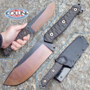 Wander Tactical - Megalodon 1.0 - Bronze Raw & Black Micarta - custom knife