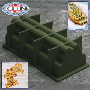 Pavoni - Slices at home - Tortiera in frog / bear silicone