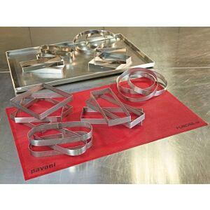 Pavoni - frames steel micro square cm. 19x19 cm. h 3,5- PROJECT PIES