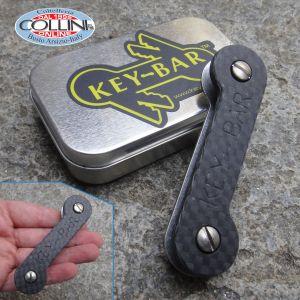 Key-Bar - Carbon fiber and aluminum keychain with titanium clip - ACFKB