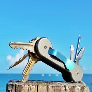 Key-Bar - Titanium Keychain with titanium clip - TKB