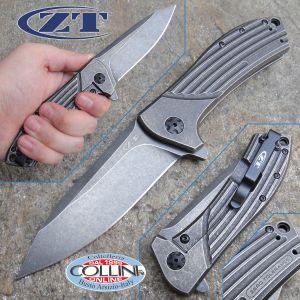 Zero Tolerance - Todd Rexford Flipper Folder Titanium Blackwash - ZT0801BW - knife