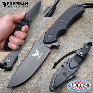 """Freeman Outdoor Gear - 3,25"""" Cobalt Field Knife 451 - G10 Black - Knife"""