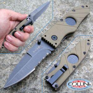 """Hoffner - Khaki Flatline Folding 2.8"""" Black Combo - FK-S2CBK-FK - knife"""