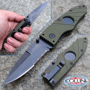 """Hoffner - Olive Flatline Folding 2.8"""" Black Combo - FK-S2CBK-FO - knife"""