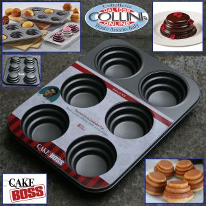 Cake Boss  - Pan for mini cakes with 6 round-shaped molds