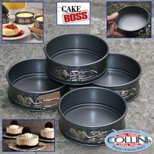 Cake Boss - Mini cake tins hinge stick - 4 pieces 12 cm