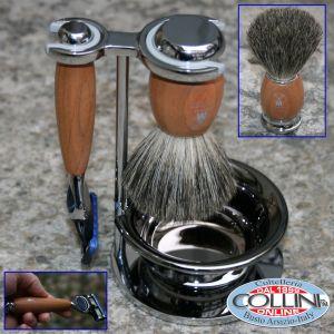 Mühle - Shaving set Fusion plum tree wood with Bowl