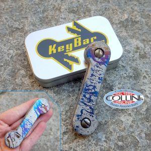 Key-Bar - Splatter Pattern - Titanium Key Holder - SPLTRKB