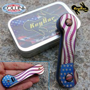 Key-Bar - American Flag Pattern - Titanium Key Holder - STARBAR