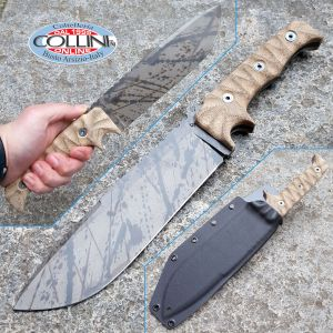 Wander Tactical - Dimorphodon Black Blood - Desert Micarta - custom knife