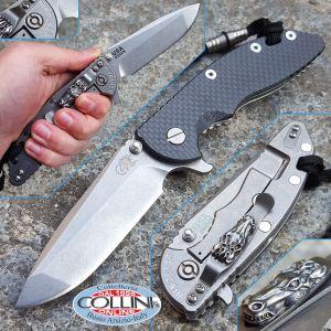 """Hinderer Knives - XM-18 - Spanto 3.5"""" Gen IV - Carbon Fiber with Flaming Horse Clip - custom knife"""