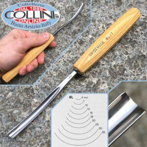 Pfeil - Long bent tools n.8L - carving tools