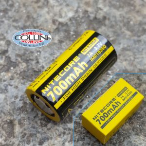 Nitecore - IMR18350 FLAT TOP - Rechargeable Battery IMR 3.7V - 7A - 700mAh - NI18350A