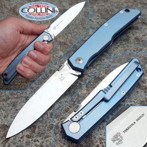 Fox - Terzuola - Frame Lock Titanium Blue - FX-525TIBL - knife
