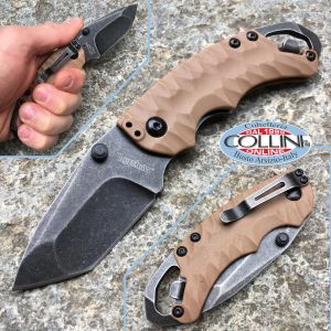 Kershaw - Shuffle II Knife Tanto BlackWash Tan 8750TTANBW