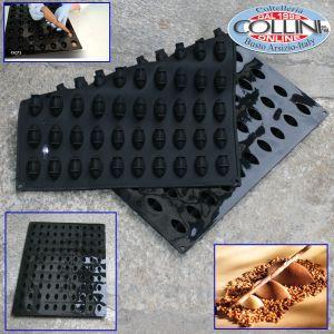 Pavoni - Silicone professional mould 100 Quenelles 3D Pavoflex