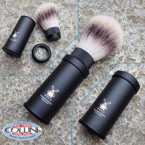 Muhle - shaving brush travel - fur badger - 31M536 Aluminium - shaving