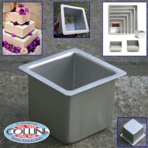 Decora - Professional baking tray cm square aluminum. 10x10x10