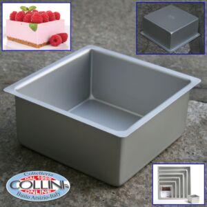 Decora - Square professional aluminum pan cm. 20x20x10