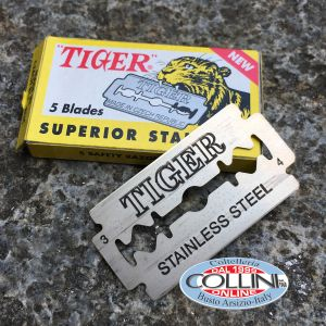 Tiger - 5 stainless steel blades for Shavette - razorblade