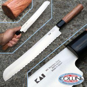 Kai Japan - Seki Magoroku Redwood MGR-0225B bread - 20cm - kitchen knife