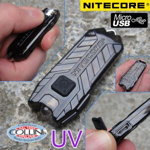 Nitecore - Tube UV - Ultravioletto - Portachiavi Ricaricabile USB  - 365nm e 500mW - Torcia Led