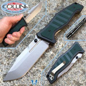 Benchmade - Vicar 757 Liner Lock Knife Green / Black G-10 - knife