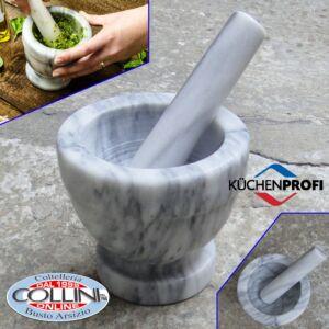 Küchenprofi - Marble mortar white - 12 cm