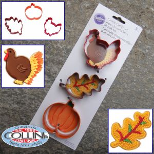 Wilton - Set 3 of cookie cutter Halloween / Fall