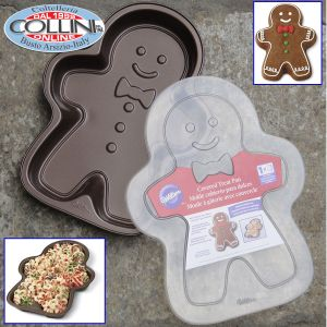 Wilton - Christmas Gingerbread Boy Covered Treat Pan