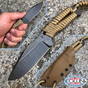 Wander Tactical - Iron Washed - Coyote Paracord - artisan knife