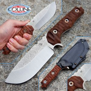 Wander Tactical - Lynx - Satin SanMai CoS Convex & Brown Micarta - custom knife
