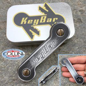 Key-Bar - White / Black Cerakoated - Aluminum Key Holder - WHTBLK-CKAKB