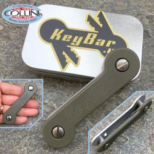 Key-Bar - OD Green G10 - Aluminum Key Holder - G10-ODGRN