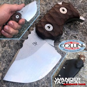 Wander Tactical - Tryceratops - Satin SanMai CoS & Brown Micarta - craft knife