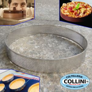 Pavoni - Round micro perforated stainless steel bands 23CM - PROGETTO CROSTATE XF2335