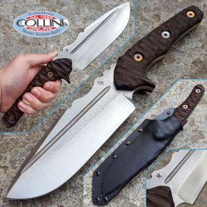 Wander Tactical - Uro - Satin SanMai CoS & Dark Brown Micarta - custom knife