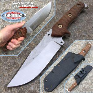 Wander Tactical - Haast - Satin SanMai CoS & Brown Micarta - craft knife