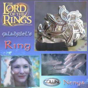 Lord of the Rings - Nenya, l'anello di Galadriel 17mm - 707/17.75 - Il Signore degli Anelli