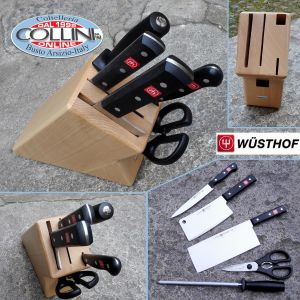 Wusthof Germany - Gourmet - Knife block 5 pieces - Beech - 9835-8 - Kitchen Knives
