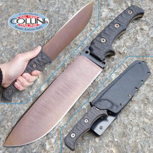 Wander Tactical - Dimorphodon - Bronze Raw & Black Micarta - Custom knife