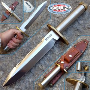 Randall Knives - Model 18 - Very Rare 1976 offset guard and long thread - collector's knife