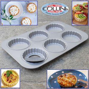 Patisse - 6-Cavity Mini Fluted Tart Pan