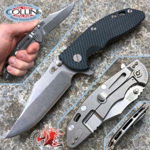 "Rick Hinderer Knives - XM-18 - Bowie 3.5 ""G10 Green / Black - semi custom knife"