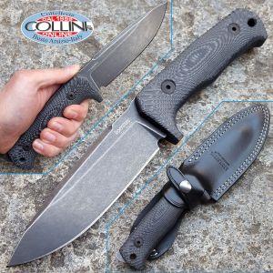 Lionsteel - T5 Blackwash - Black Canvas Micarta - T5BMI - knife