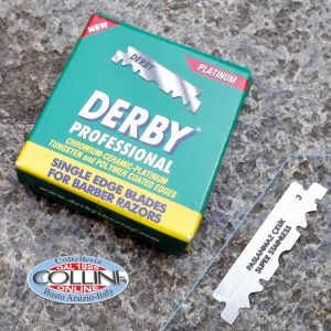 Derby - 100 stainless steel SINGLE HEAD BLADE for Shavette - blades