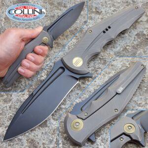 We Knife Co. - Framelock Flipper Drop Gray - 608E - knife