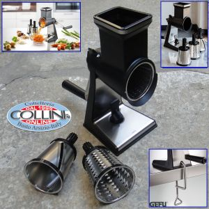 Gefu  -  Rotary grater with 3 drums -  TRANSFORMA