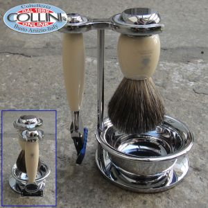 Mühle - VIVO - Shaving set , with Gillette® Fusion™, handle material made of high-grade resin ivory